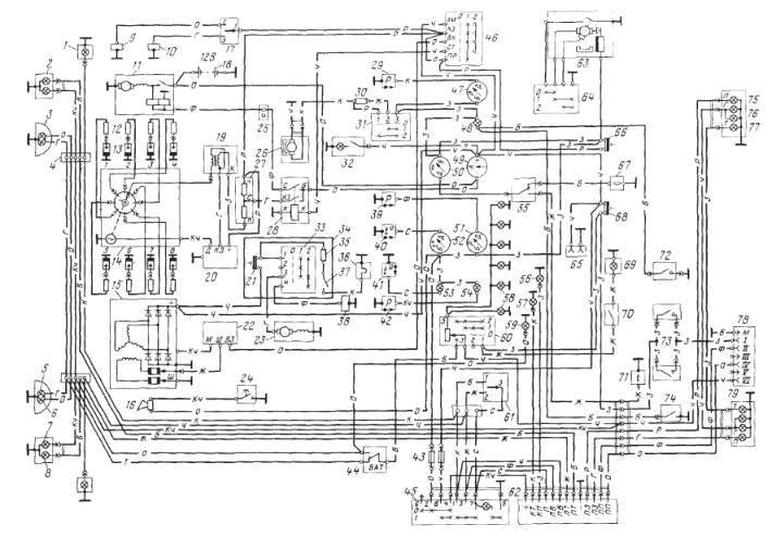 саз схема 3507 электропроводки