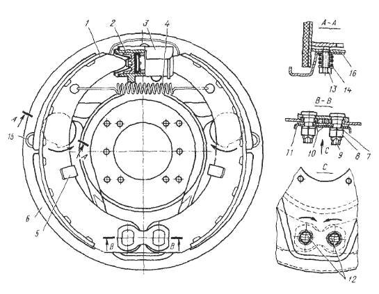 Тормозные механизмы ГАЗ-53
