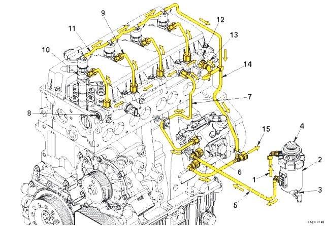 Схема топливной системы дизеля